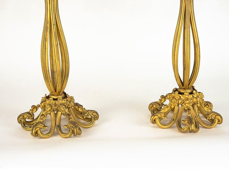 Pair of Antique gilt bronze candelabras