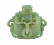 Chinese Carved Jade Urn with Lid