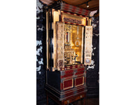 Japanese Large Finely Gilt Shrine with Temple