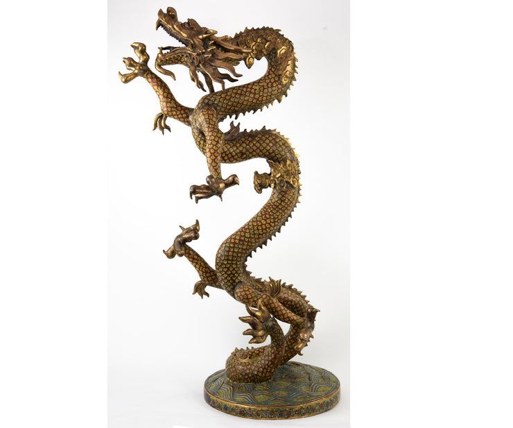 Large Chinese Cloisonné Dragon