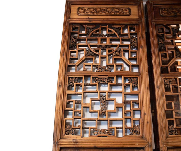 Pair of Antiques Chinese carved wood doors