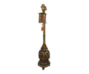 Chinese Carved Gold Gilded Phoenix Floor Lamp