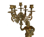Outstanding Pair of 19th Century Gilt Bronze Candle Holders