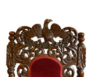Pair of Antique Belgian Hall/Side Chairs with Eagle Crown