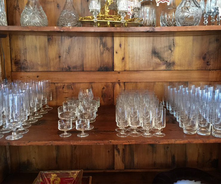 100 Piece Signed Rosenthal Crystal Stemware