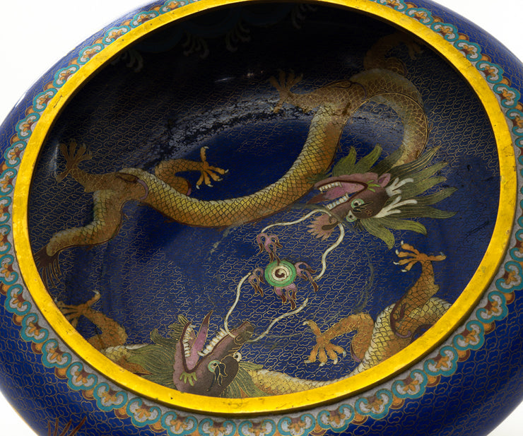Chinese Cloisonné Dragon Bowl