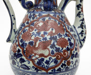 Chinese Ming Dynasty Style Hand Painted Dragon Wine Vessels