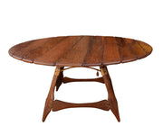 Large Palmwood Pacific Green Dining Navajo Round Dining Table from Fiji