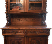 Antique Belgium Carved Buffet with Lion Crest