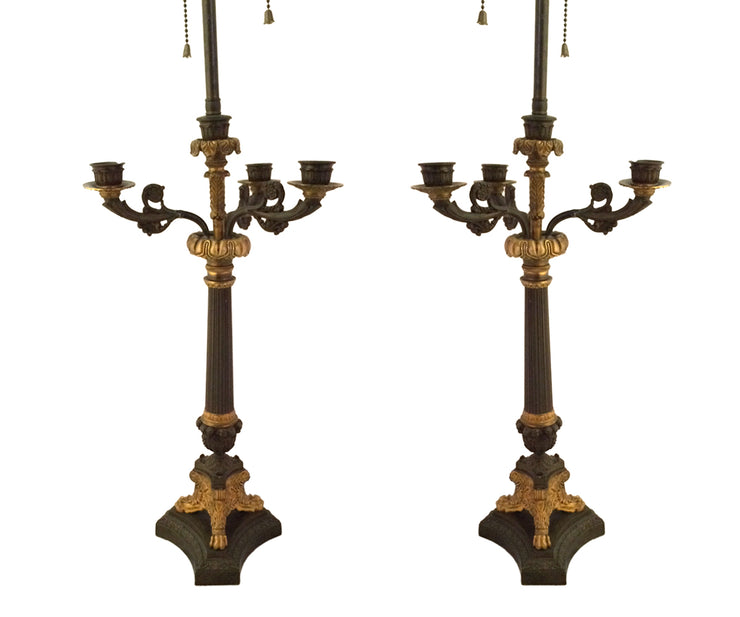 Pair of Neo classical candelabra