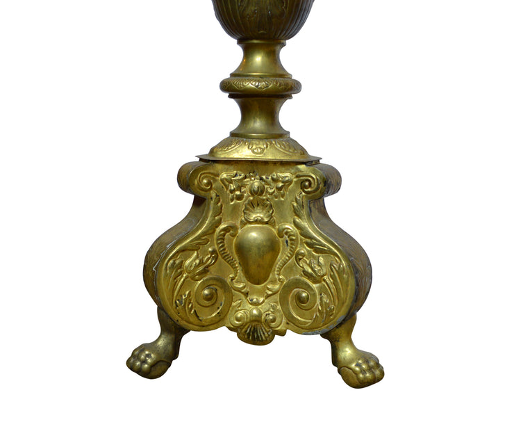 19th Century Large Pricked Candlestick