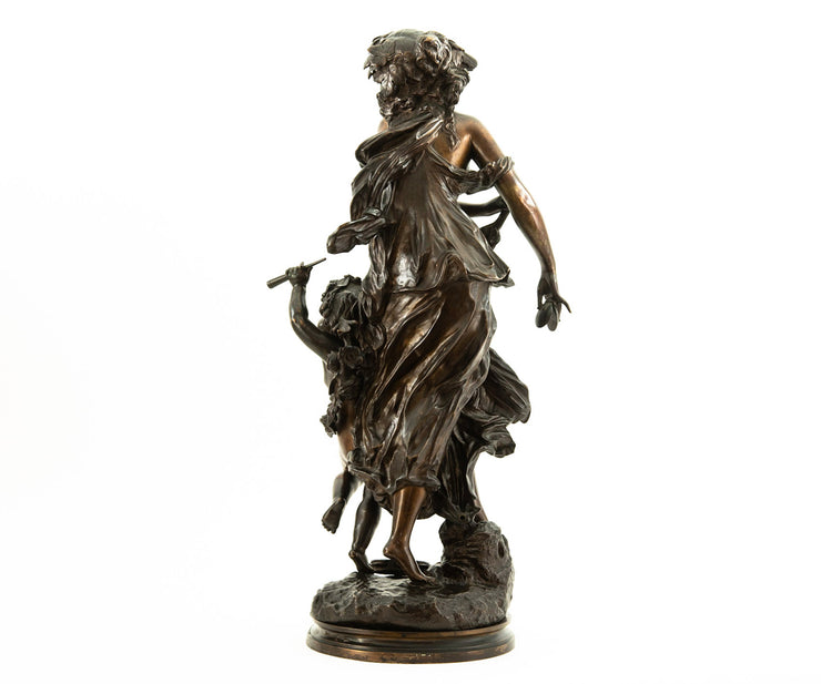 Bronze Statue of Woman with a Child