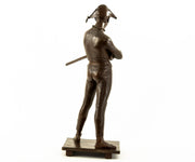 "Antique Paul Dubois ""Harlequin"" Bronze Statue"