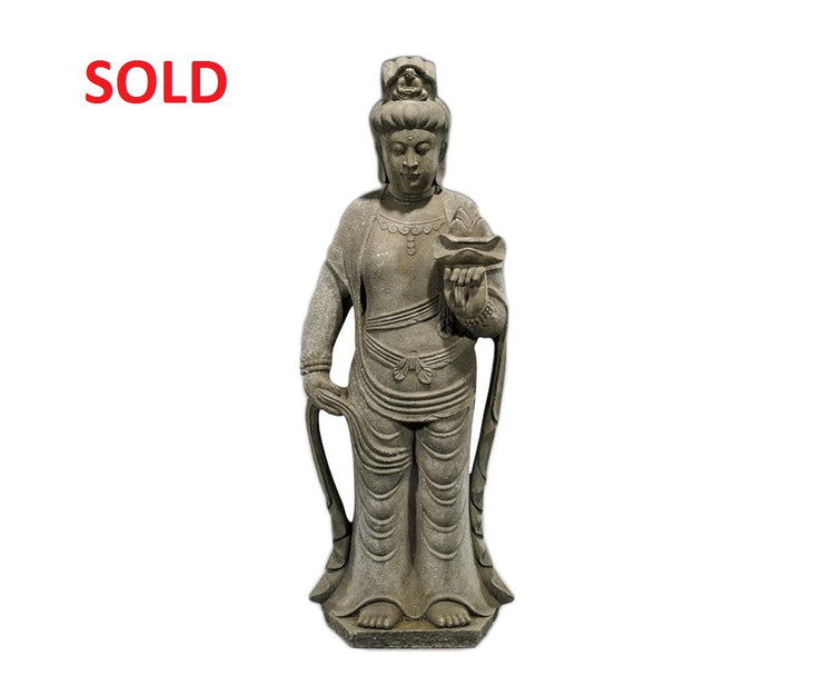 Antique Asian Hand carved stone buddaha