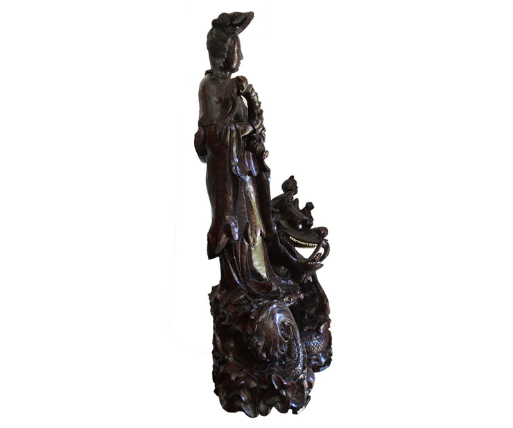 Carved wood Quan Yin