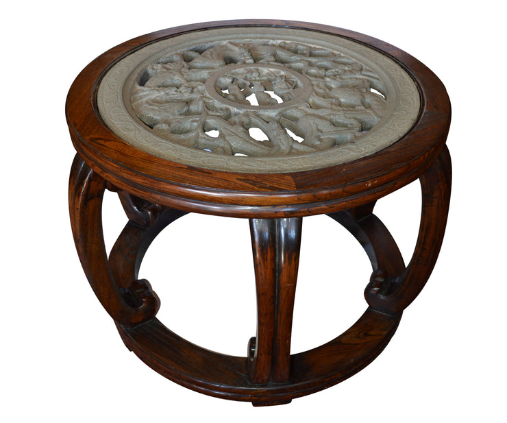Rare Carved Stone Center Table