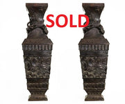 Pair of Antique Chinese Bronze Vases