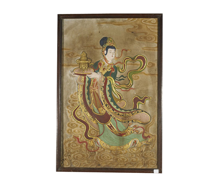 Two Chinese Stucco paintings