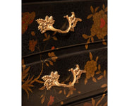 French Louis XV Style Chinoiserie Commode or Bombe Chest of Drawer