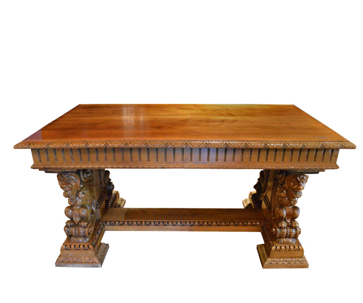 Magnificent Gothic Style Antique Table With Decorative Carvings Download Free Architecture Designs Xerocsunscenecom