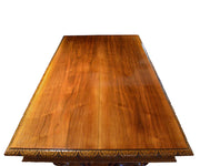Antique Gothic Style Hand-Carved Walnut Table or Desk