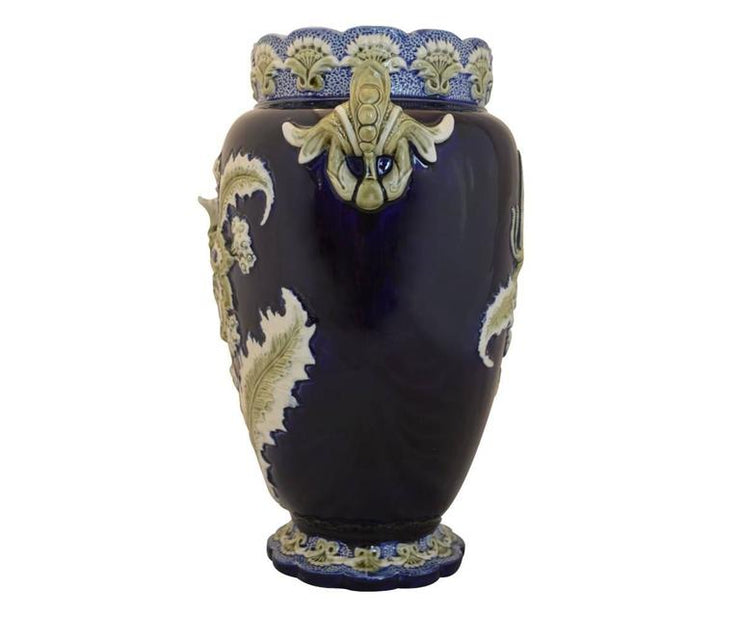Five lille,french 1900, majolica vase