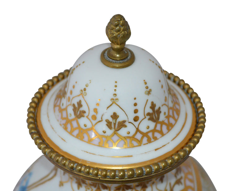Antique 19th Century Sèvres Hand-Painted Urn