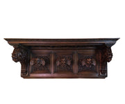 Antique Renaissance Italian Walnut Cherub Hat or Coat Rack