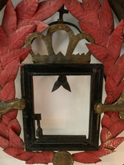 Antique metal frame