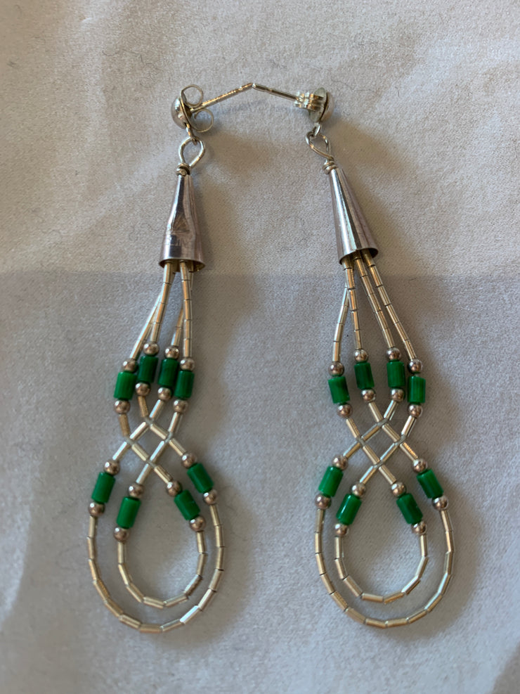 Malachite necklace and matching earrings