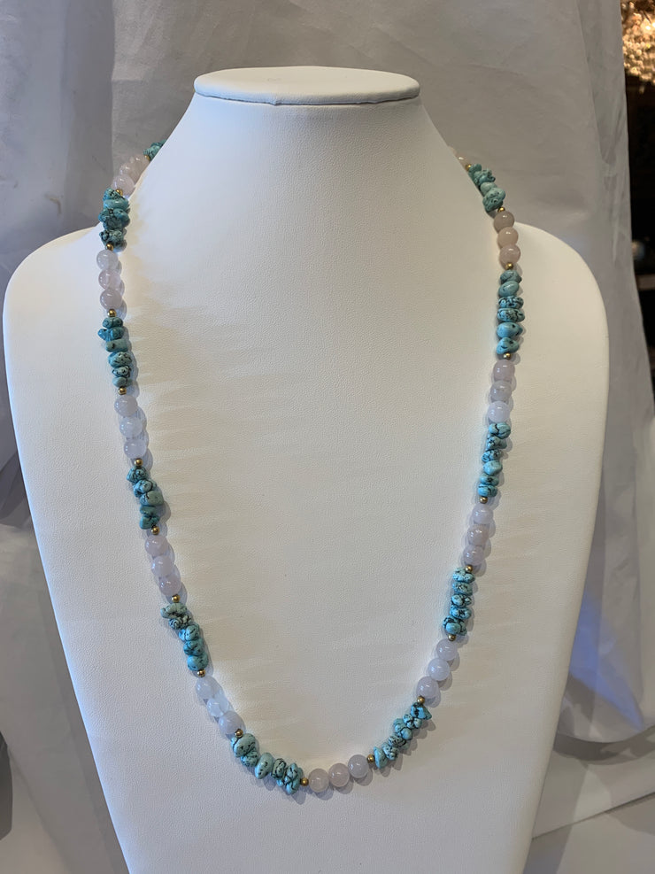 Chinese white jade necklace