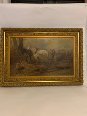 Antique signed painting
