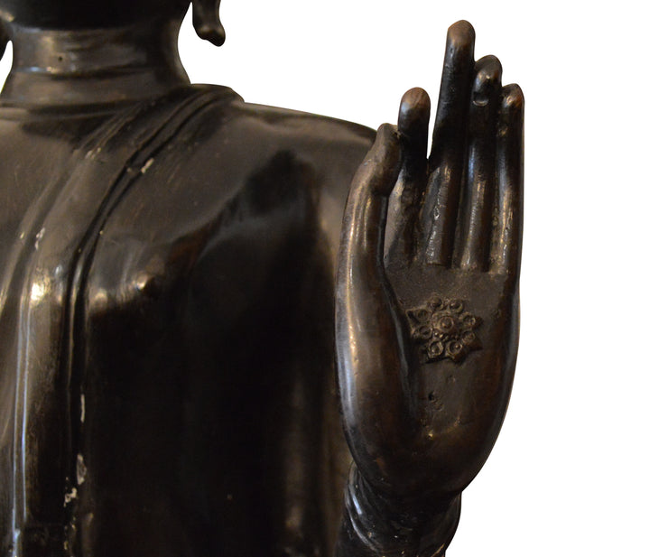 Large Thai Bronze Buddhist Figure