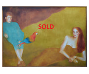 Massive Signed Original Oil on Canvas Painting by Joanna Zjawinska