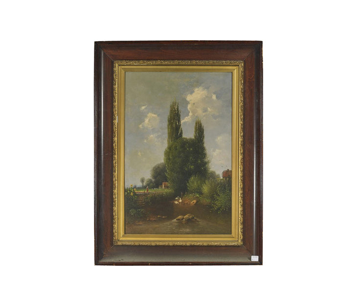 19th century oil on canvas painting