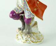 Set of four porcelain Miessen musician monkeys