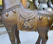 Pair of Massive Tang-Style Bronze Horses