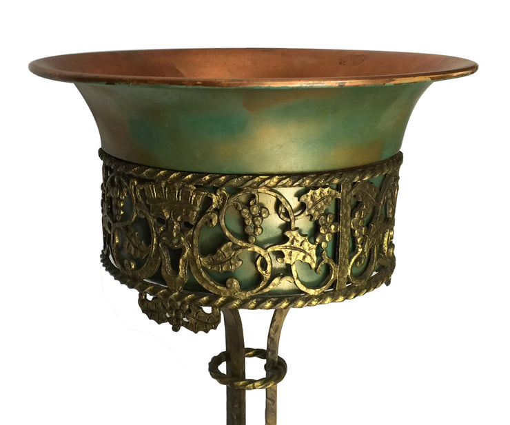 Oscar Bach Bronze and Iron Planter