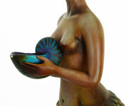 Signed and Numbered Sergio Bustamante Ceramic Mermaid on Shell