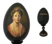 Collection of Five Russian Hand-Painted Eggs