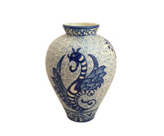 Spanish hand painted vase