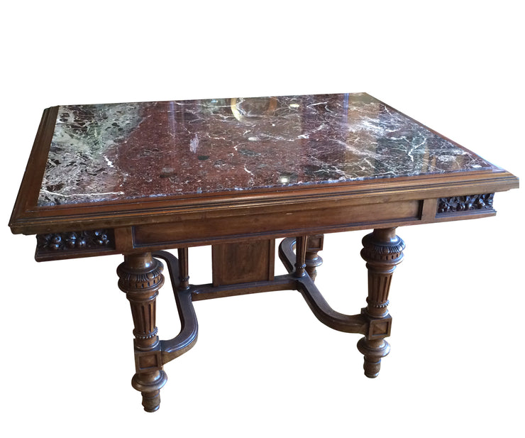 French Dinning Table with marble top