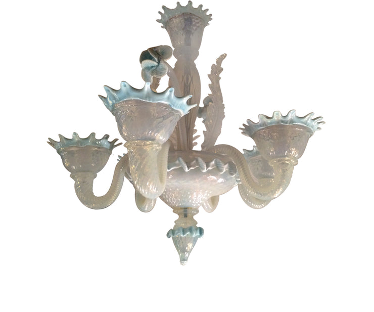 Antique Venetian small blue chandelier