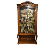 Antique 19th Century French Walnut Vitrine or Display Cabinet