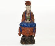 Large Antique 19th Century 'or Earlier' Chinese Polychrome Guanyin