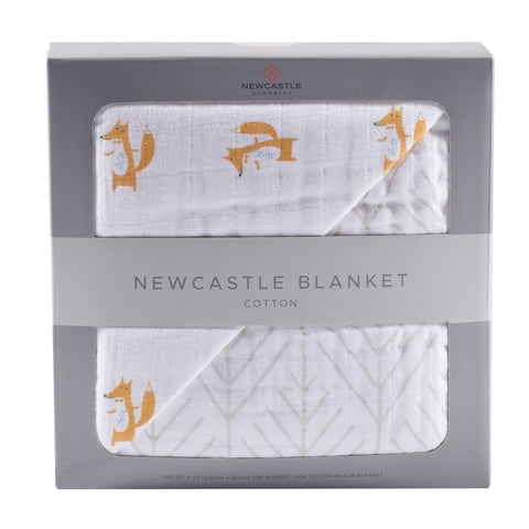 Fancy Fox and Forest Arrow Newcastle Blanket