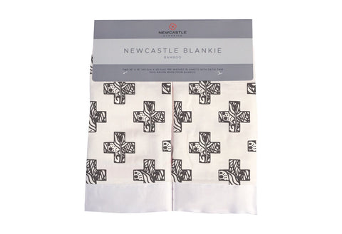 Nordic Stamp Bamboo Muslin Security Blankie