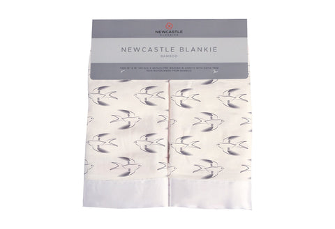 Sparrows Bamboo Muslin Newcastle Blankie