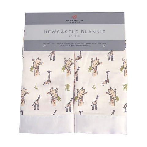 Hungry Giraffe Cotton Muslin Security Baby Blankie