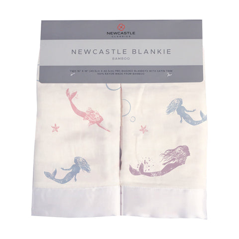 Under The Sea Mermaid Cotton Muslin Security Baby Blankie